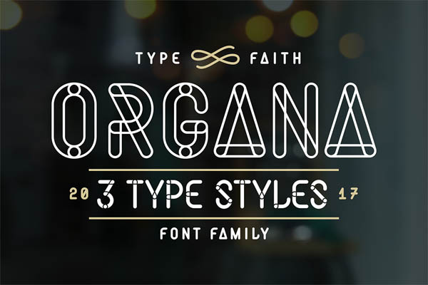Organa: Font by TypeFaith