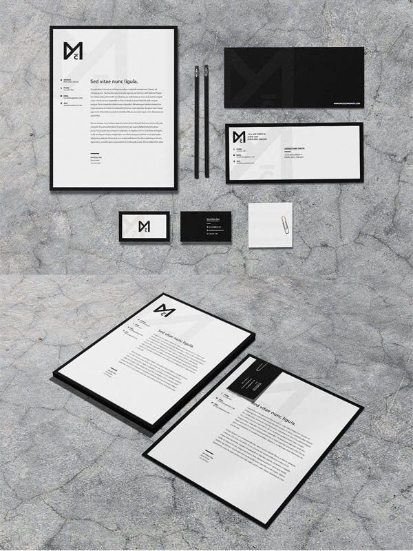 Noir - Stationery Set