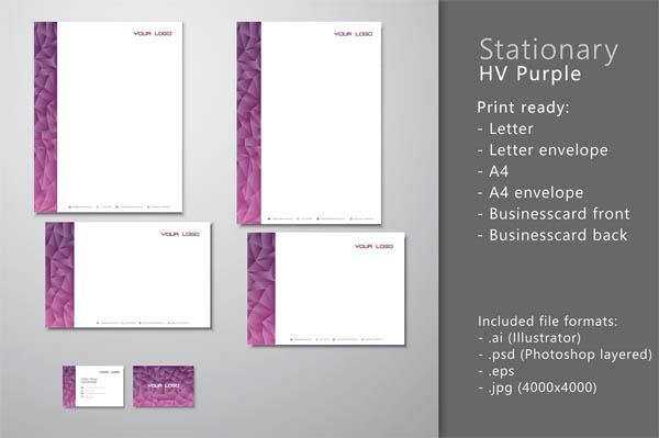 Stationary HV Purple