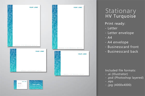 Stationary HV turquoise blue