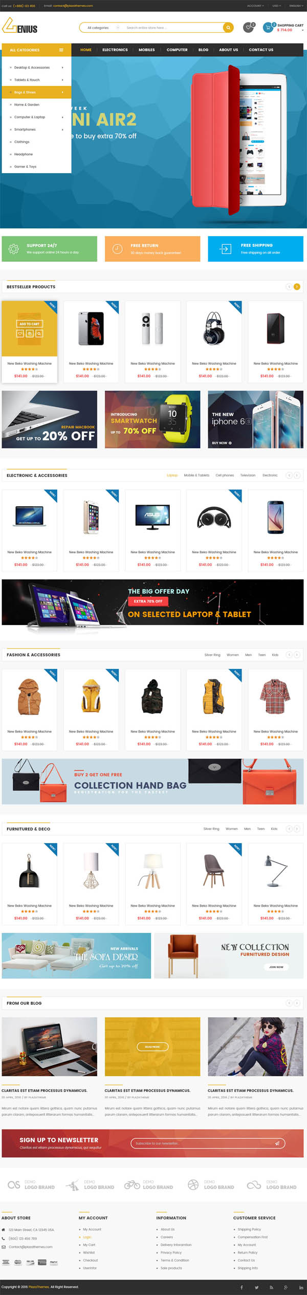 VG Genius : Multipurpose WooCommerce WordPress Theme