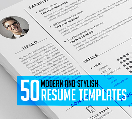 45+ Modern CV Resume Templates to Get Your Dream Job