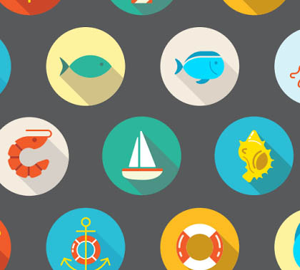 Awesome 22 Flat Vector Sea Icons – Free Download