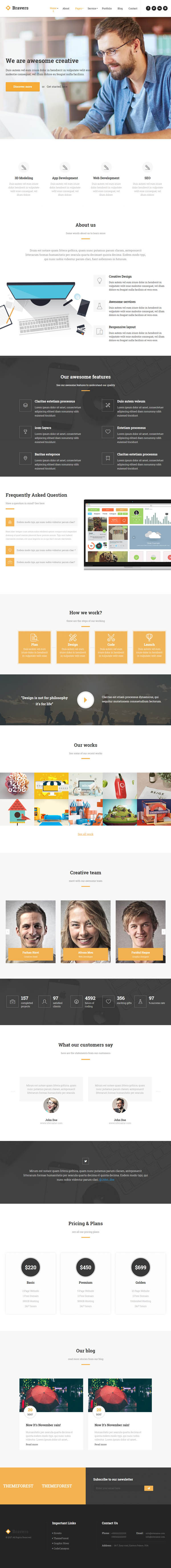 Bravers : Multipurpose WordPress Theme