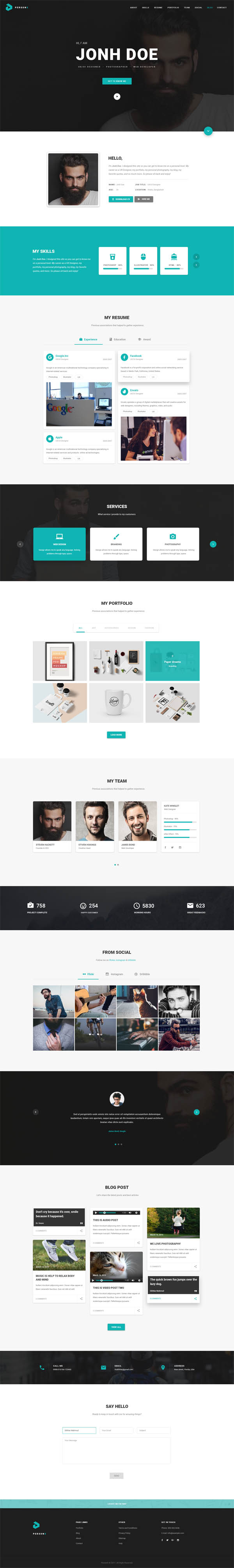 PersonX : Material Design Personal Theme