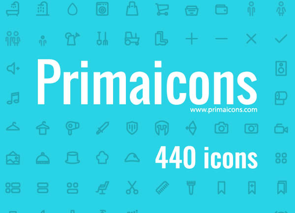 440 Awesome Vector Icons - Free Download