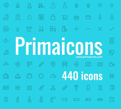 440 Awesome Vector Icons – Free Download