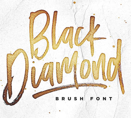 Post thumbnail of Black Diamond Brush Font