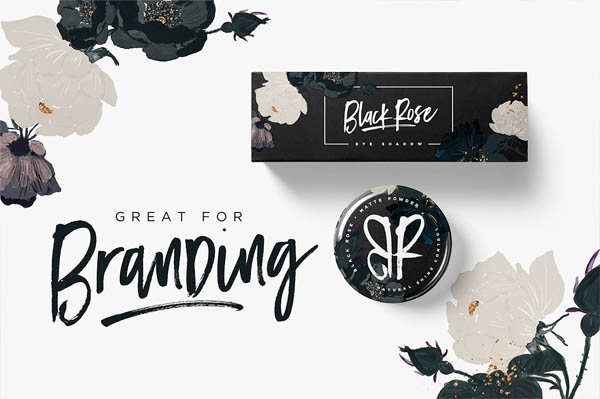 Black Diamond Brush Font - 2