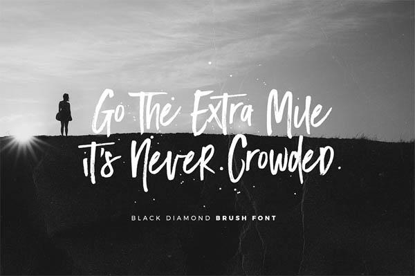 Black Diamond Brush Font - 6