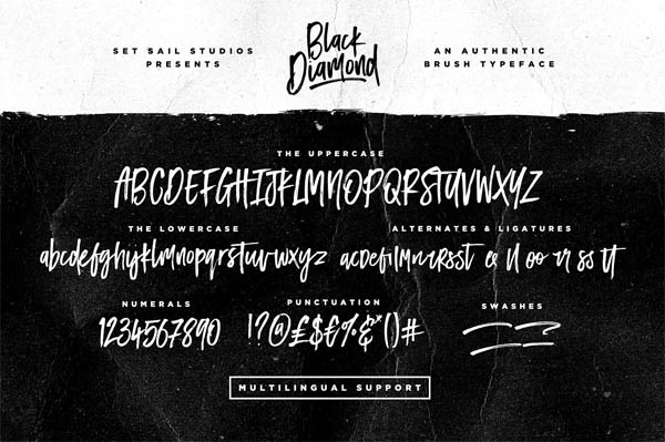 Black Diamond Brush Font - 7