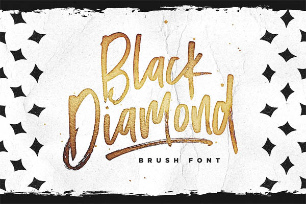Black Diamond Brush Font - 8