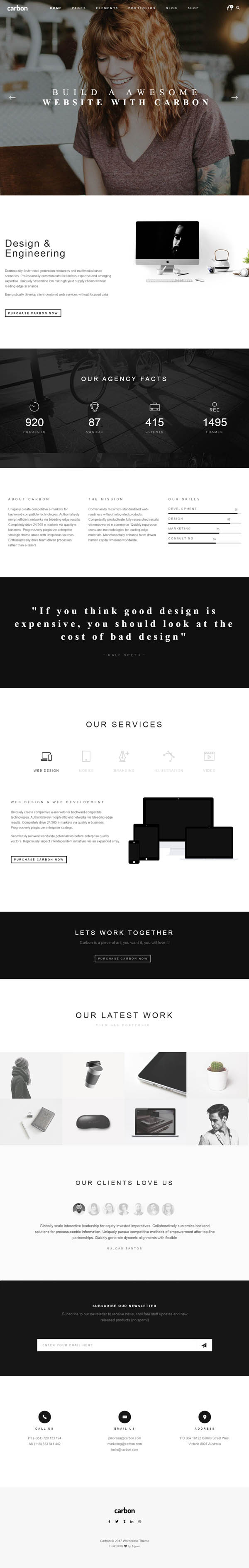 Carbon – Clean Minimal Multipurpose WordPress Theme