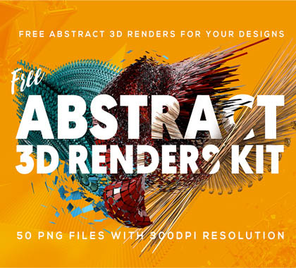 Post thumbnail of 50 Free Abstract 3D Shapes for Download