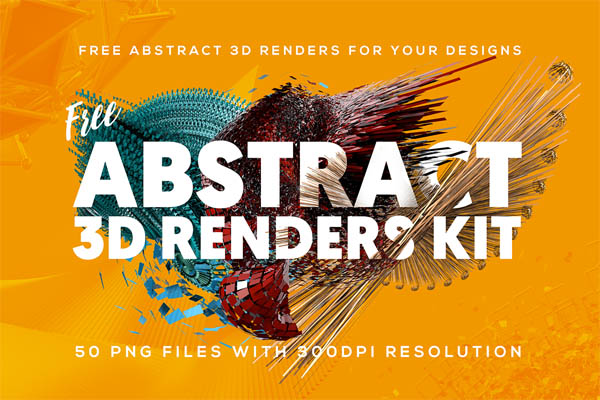 FREE Abstract 3D Shapes for download - 5