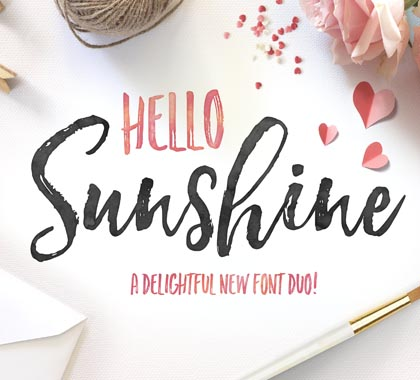 Post thumbnail of Hello Sunshine Font Duo