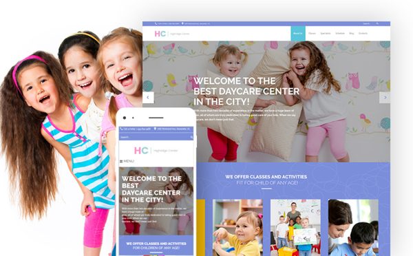 Highridge Center - Kindergarten & Child Care WordPress Theme