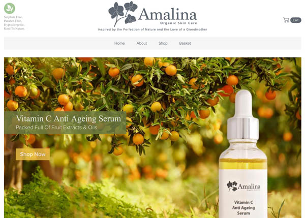 Amalina Organic Skin Care by DigitalPod
