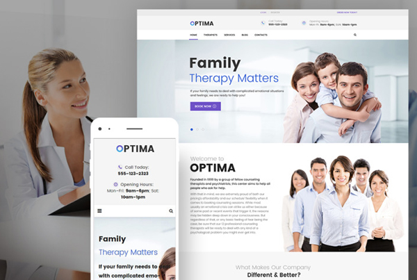 Optima - Family Therapy WordPress Theme<