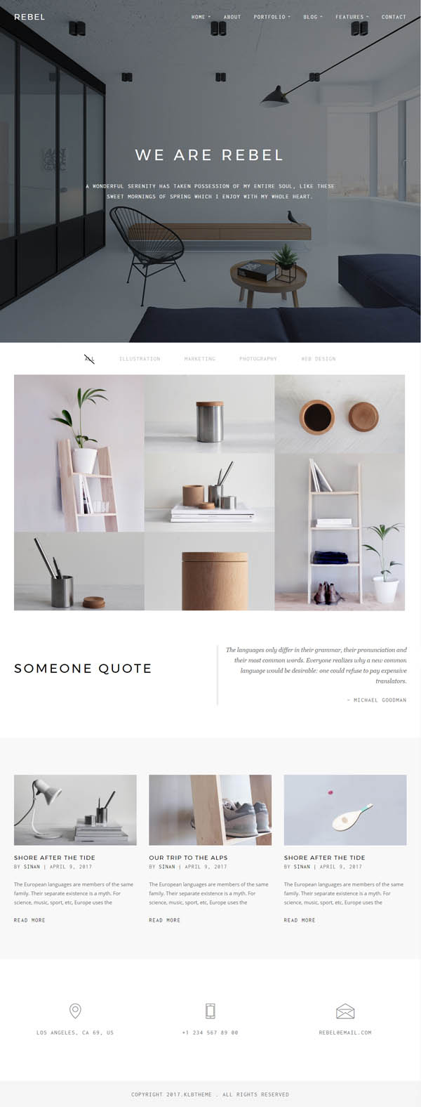 Rebel : Minimal Portfolio WordPress Theme