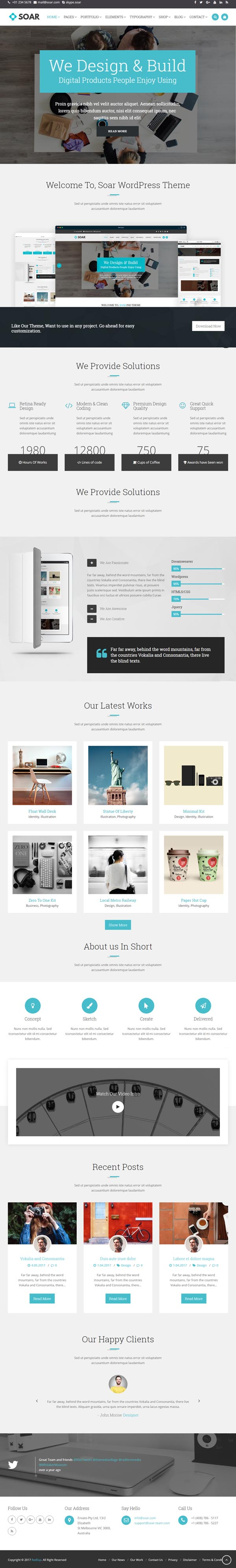 Soar – Responsive Multi-Purpose WordPress Theme