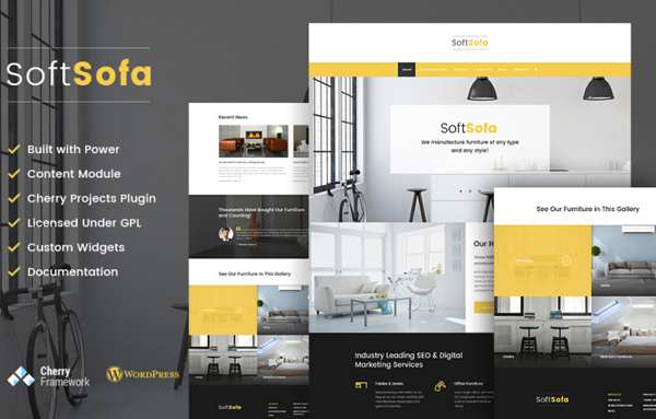 Soft Sofa - Furniture & Manufacturing Company WordPress Theme