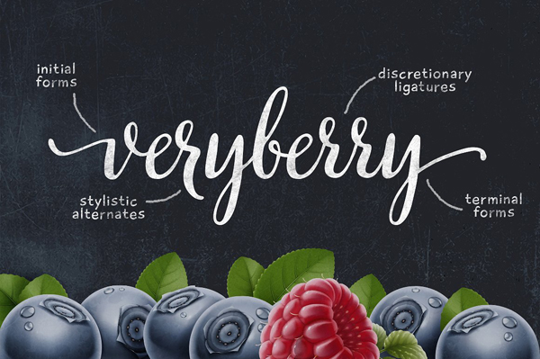 Veryberry is a handwritten font