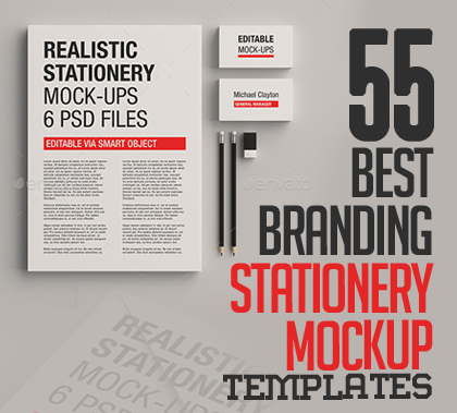 55 Best Free Branding Stationery Mockup Templates (PSD)