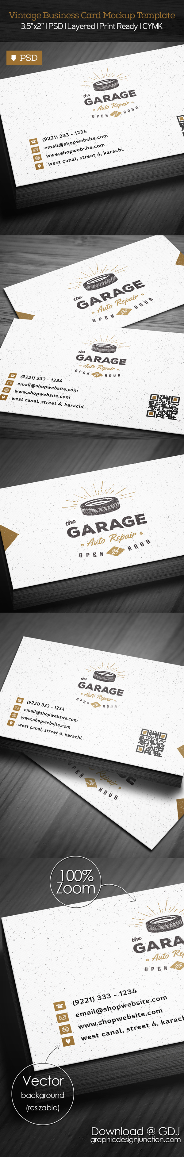 Freebie: Vintage Business Card PSD Template