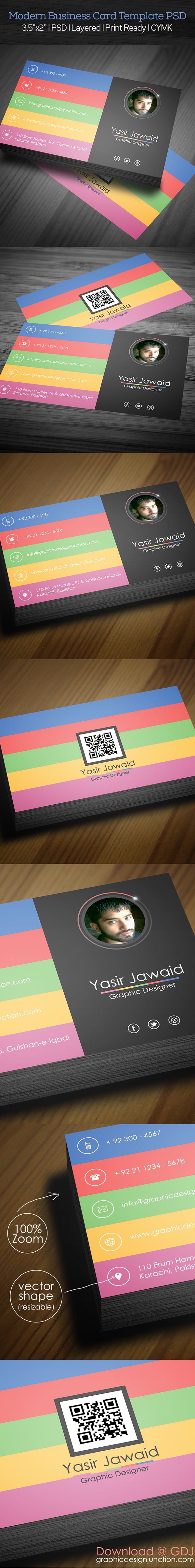 Modern Business Card Mockup PSD (Freebie)