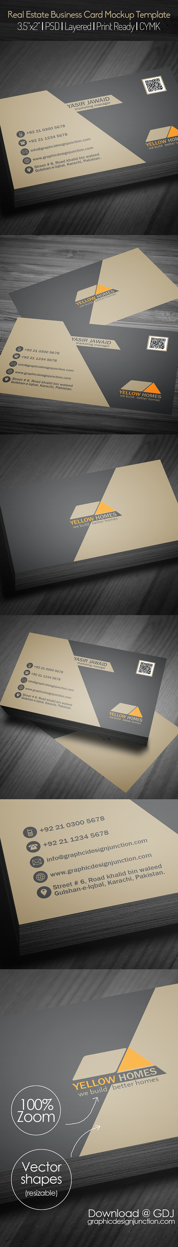 Real Estate Business Card PSD Template (Freebie)