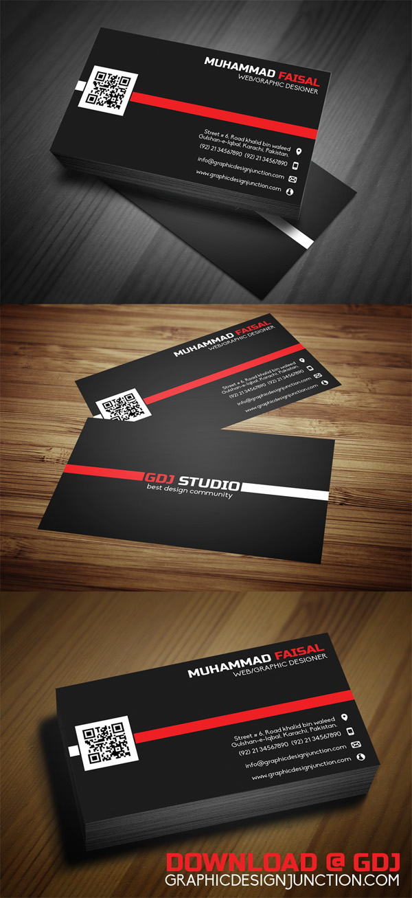 Free PSD Business Card Mockup Template