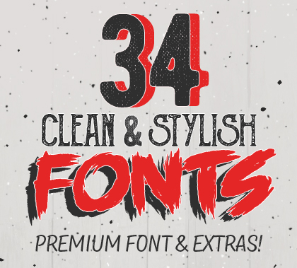 Post thumbnail of 34 Clean & Stylish Fonts for Designers