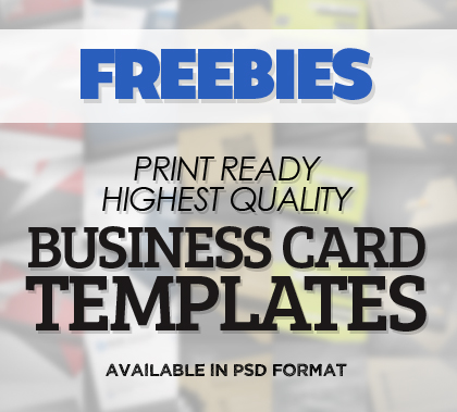 Freebies: Highest Quality Business Card Templates (PSD)