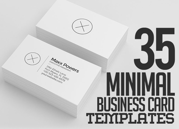 35 minimal modern business card templates design blog 35 minimal modern business card templates accmission Images