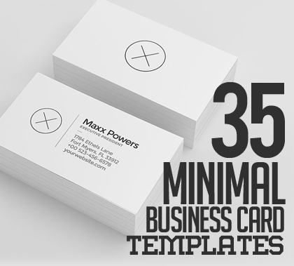 35 Minimal Modern Business Card Templates
