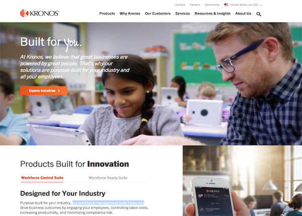 Kronos Website by Genuine
