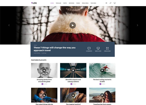 Vlog - Video WordPress Theme by meks