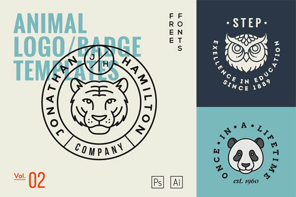 Animal Logo/Badge Templates - 14