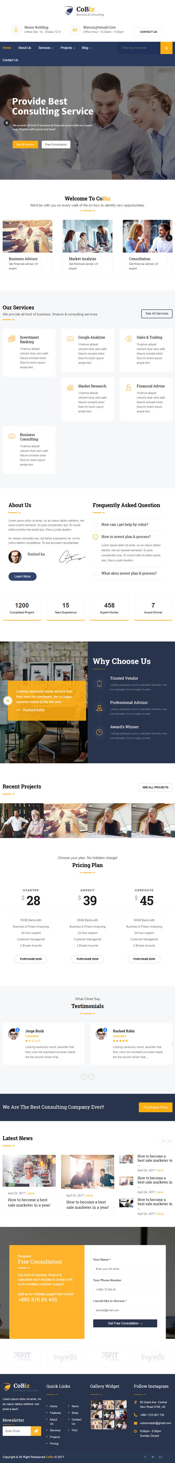 Cobiz -Consulting & Business WordPress Theme