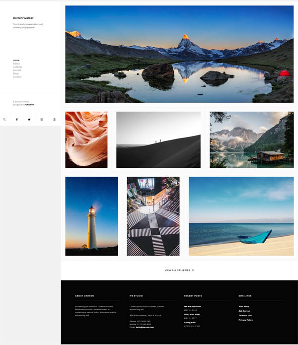 Darren - Photography & WooCommerce Compatible WordPress Theme