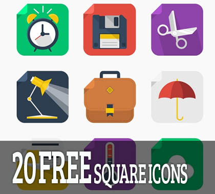 Post thumbnail of 20 Free Square Icons