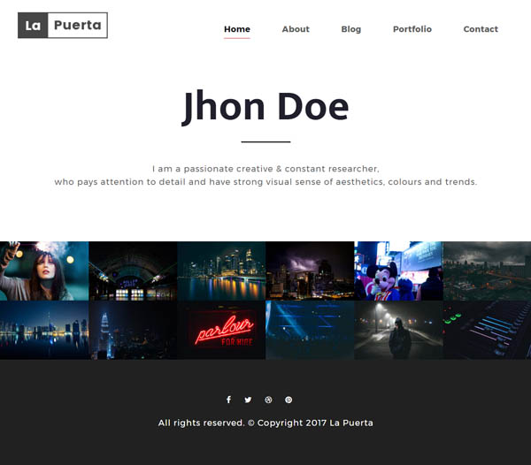 La Puerta - Portfolio & Photography & Agency WordPress Theme