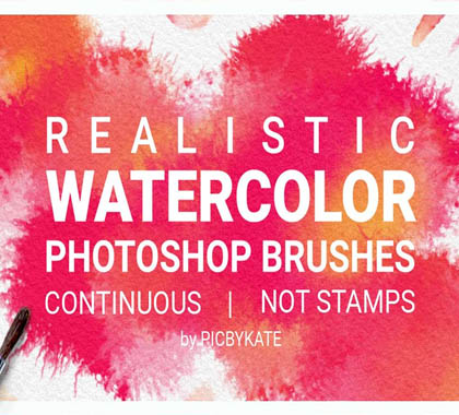 Post thumbnail of Watercolor Photoshop Brushes