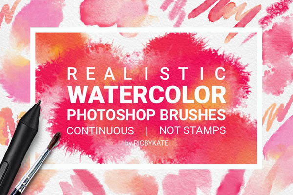 Watercolor Photoshop Brushes - 5