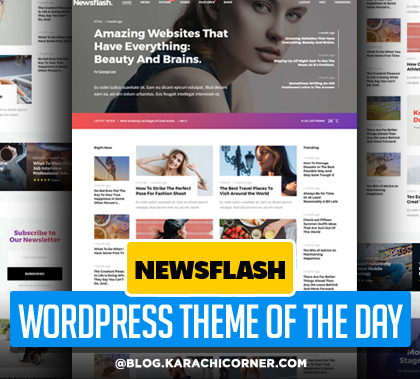 Post thumbnail of Newsflash – A Fresh Multi-Concept News and Magazine Theme