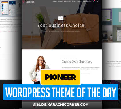 Pioneer – Multi-Concept Corporate WordPress Theme