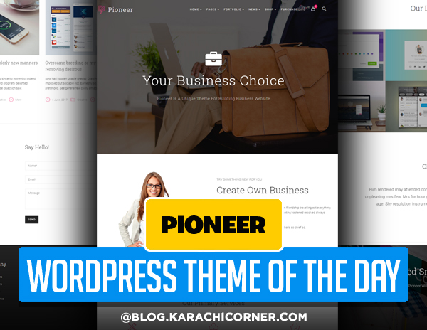 Pioneer - Multi-Concept Corporate WordPress Theme