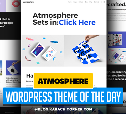 Post thumbnail of Atmosphere – A Bold, Fresh Portfolio WordPress Theme