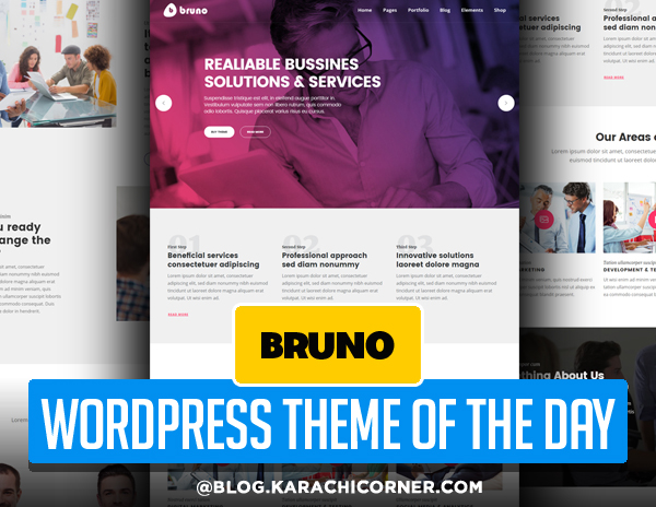 Bruno - Creative Multi Purpose WordPress Theme